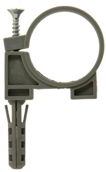 Хомут с дюбелем для трубы  50 мм (2шт.)