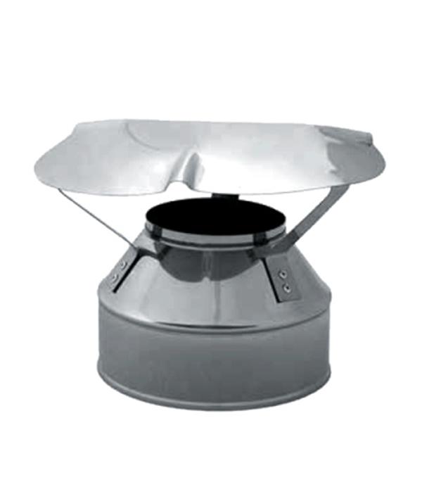 Оголовок на дымоход-сэндвич из нержавеющей стали, d=120/200 мм