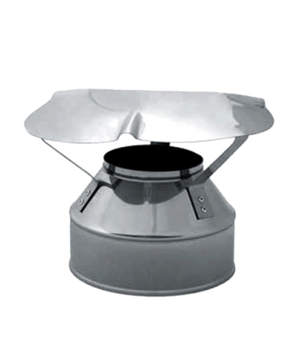 Оголовок на дымоход-сэндвич из нержавеющей стали, d=150/210 мм