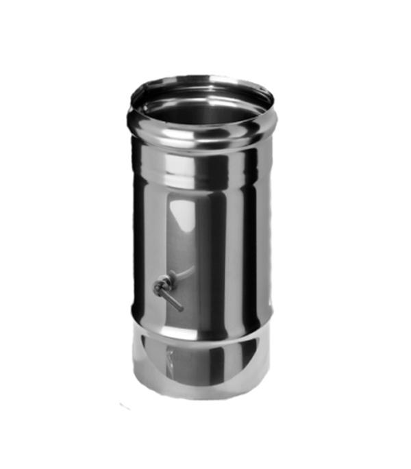 Шибер (задвижка) поворотный из нержавеющей стали, d=115 мм