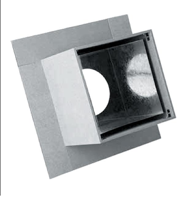 Узел потолочно-проходной, минерит, d=200 мм