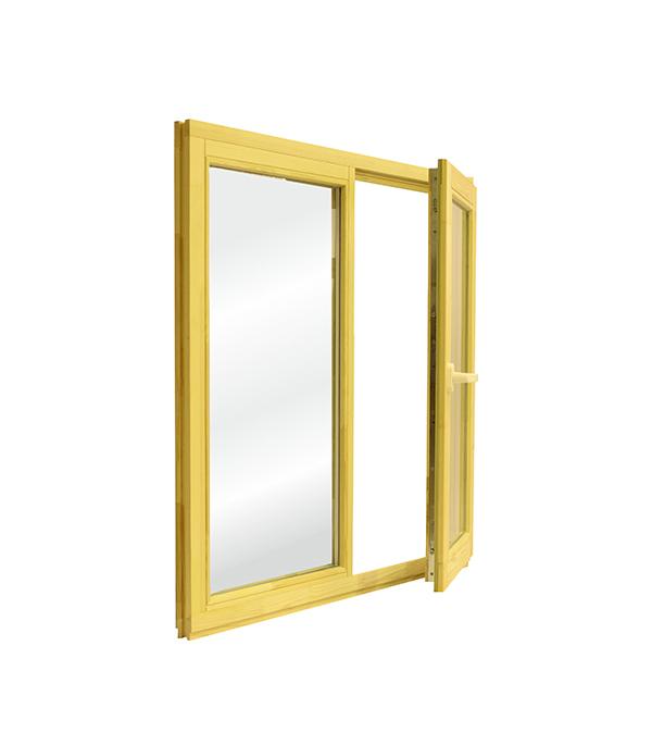 Окно деревянное террасное 1160х1170 мм 2 створки