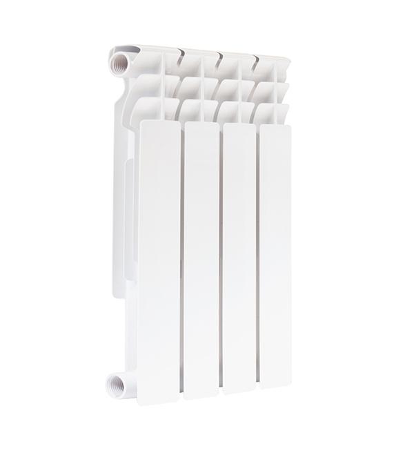 Радиатор биметаллический 1 500, 4 секции купить чугунный радиатор отопления 3 секции