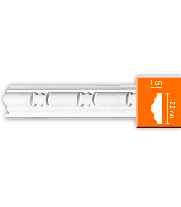 Плинтус из полиуретана Decomaster 10х22х2400 мм decomaster багет decomaster 808 552 размер 61х26х2900мм