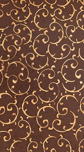 Плитка декор 250х450х8 мм Анастасия орнамент шоколад