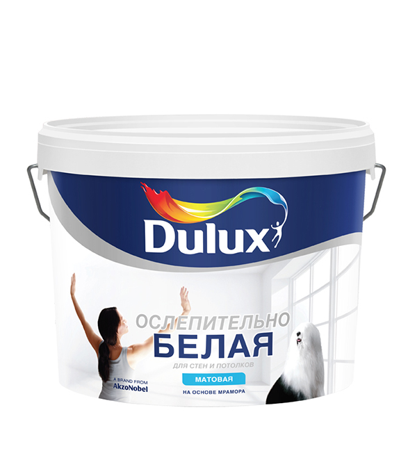 Краска в/д Ослепительно белая Dulux 10 л