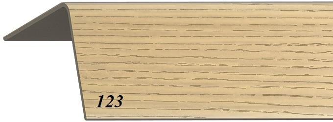 Уголок пластиковый универсальный с тиснением  гибкий 20х20х2700 мм дуб золотистый