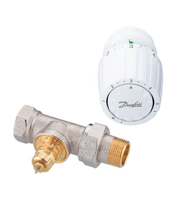 Комплект термостатических элементов 3/4 прямой Danfoss для однотрубных систем комплект термостатических элементов 3 4 прямой danfoss для однотрубных систем