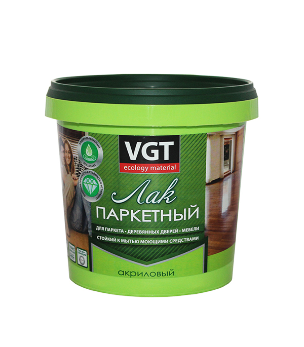 Лак паркетный акриловый VGT матовый 0,9 кг состав лессирующий vgt gallery бесцветный 0 9 кг