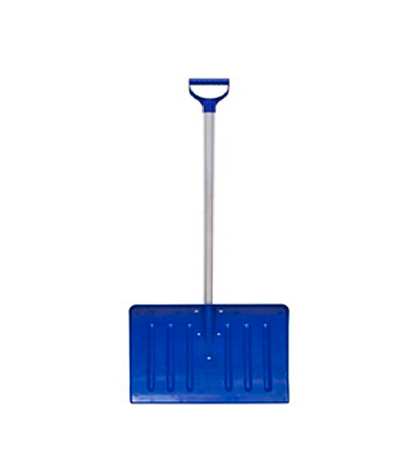 Лопата снеговая пластиковая с алюминиевым черенком 420х550х1350 мм мини лопата штыковая truper с черенком 69 см