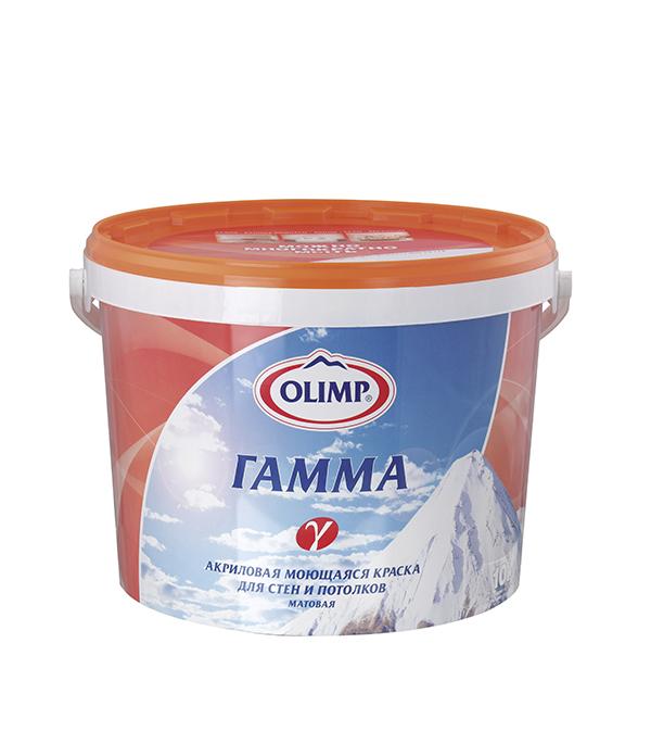 Краска в/д моющаяся акриловая Гамма основа  А матовая Olimp 5 л