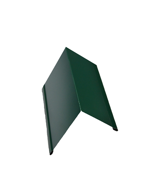 Планка торцевая для металлочерепицы зеленая RAL 6005 50х100 мм 2 м  планка карнизная для металлочерепицы 80х100 мм 2м зеленая ral 6005
