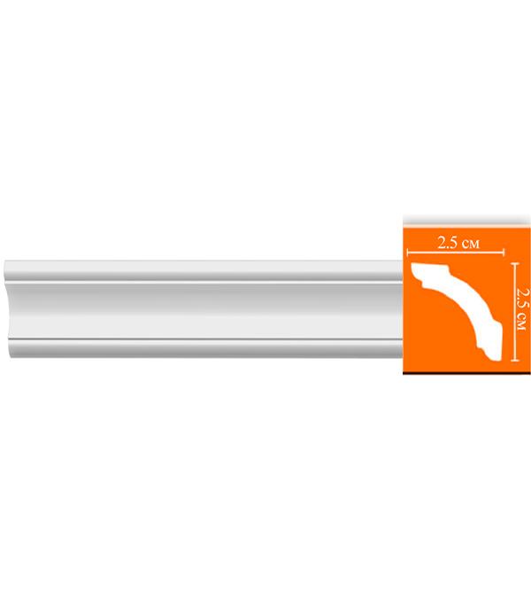Плинтус из полиуретана 25х25х2400 мм Decomaster плинтус молдинг из полиуретана 16х40х2400 мм decomaster