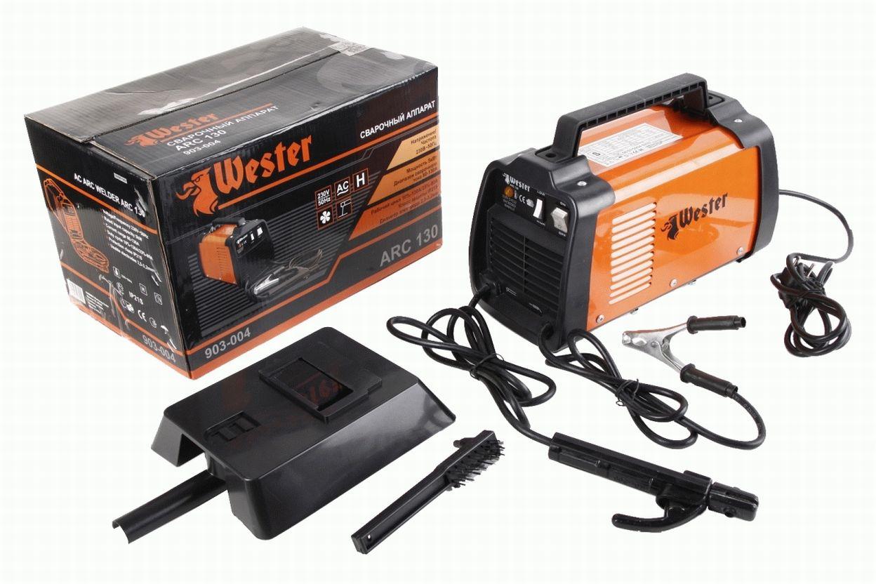 Сварочный аппарат (трансформатор) Wester ARC 130, 220В, 130 А, ПВ 10%, до 3,2 мм