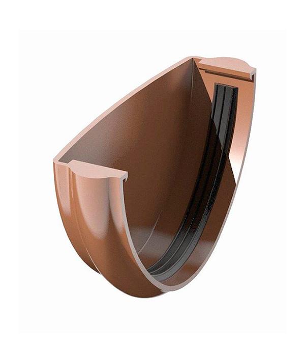 Заглушка желоба пластиковая коричневаяТехнониколь