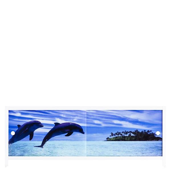 Экран под ванну Ультралегкий АРТ Дельфины 1500 мм