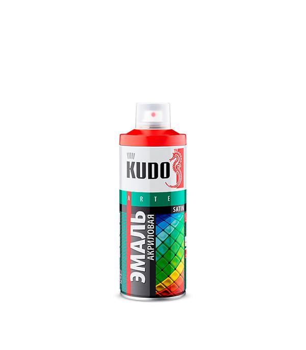 Эмаль акриловая аэрозольная Kudo satin Ral 9003 белая 520 мл эмаль по ржавчине алкидная ral 9003 белый эксперт 2 кг