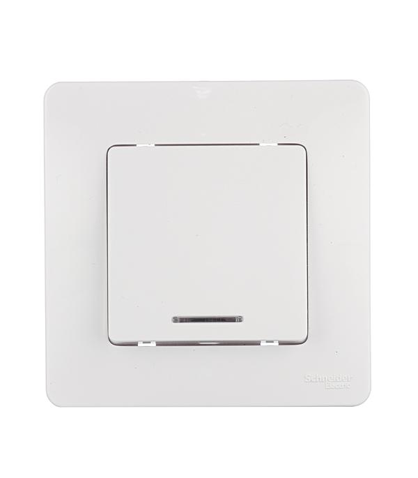 Выключатель oдноклавишный с подсветкой с/у Schneider Electric Blanca белый
