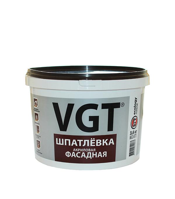 Шпатлевка фасадная VGT акриловая 3,6 кг восковый состав защитный vgt по венецианской штукатурке 0 9 кг