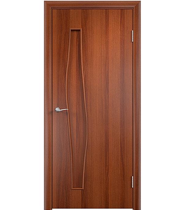 Дверное полотно ламинированное Верда С-10 Итальянский орех 800х2000 мм, глухое, без притвора