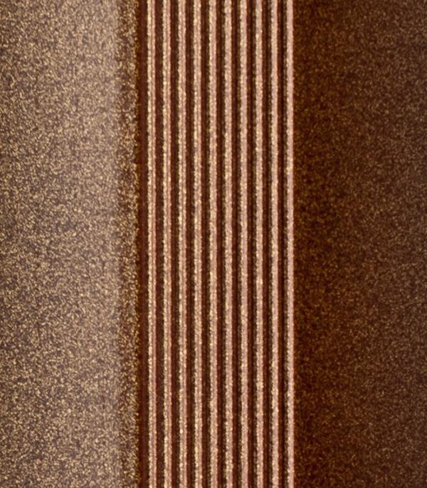 Порог для кромок ступеней 25х25х1800 мм бронза