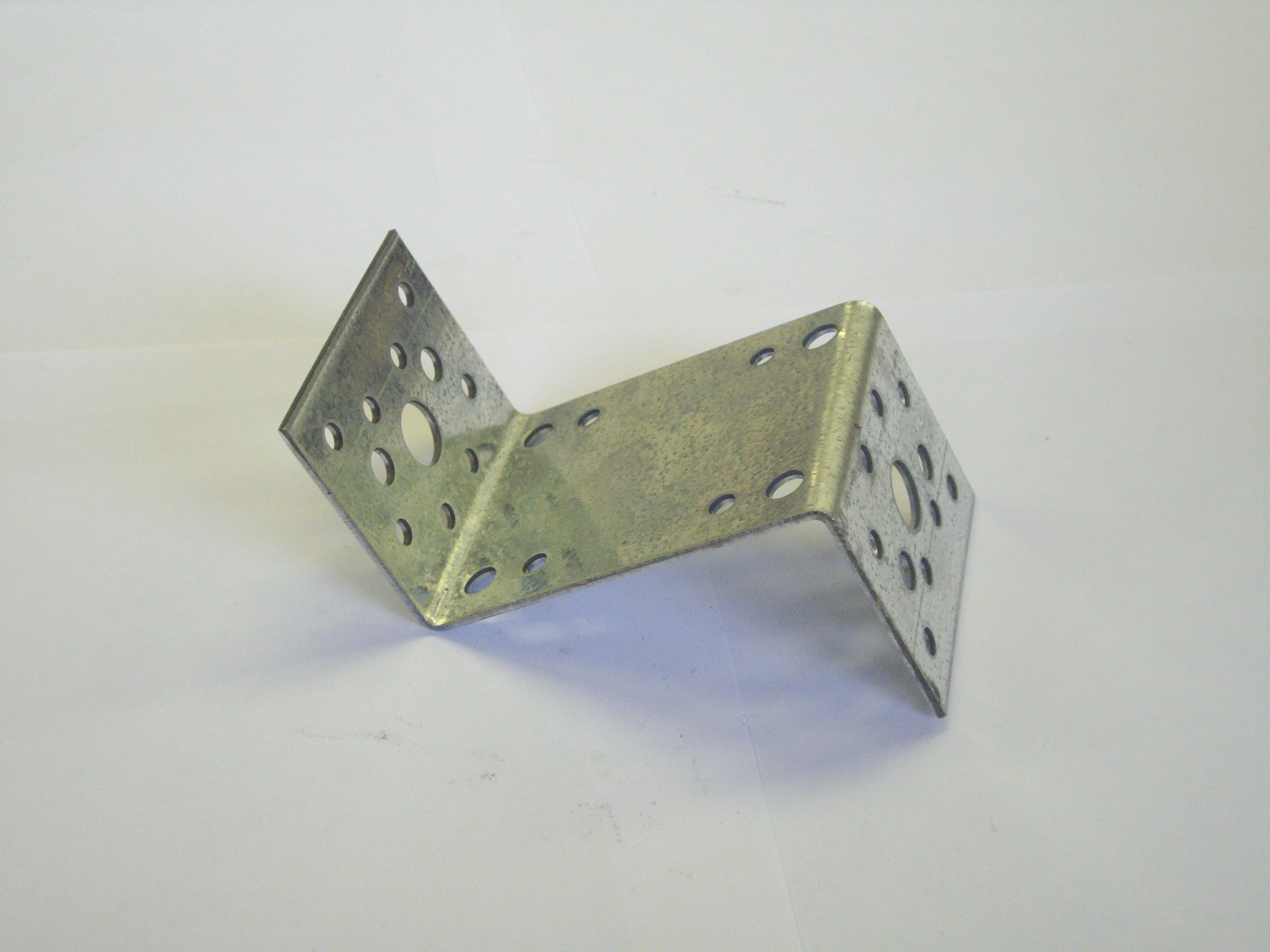 Уголок крепежный Z-образный оцинкованный 35х70х35х55х2 мм