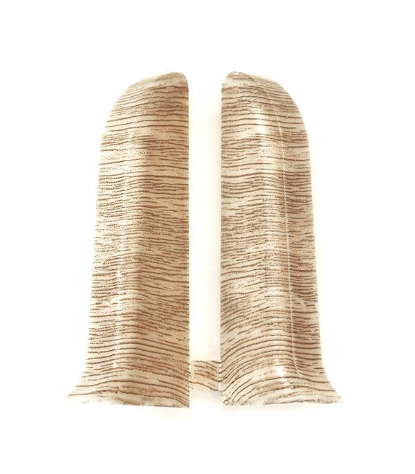 Заглушки торцевые (левая+правая) Дуб сафари 55 мм