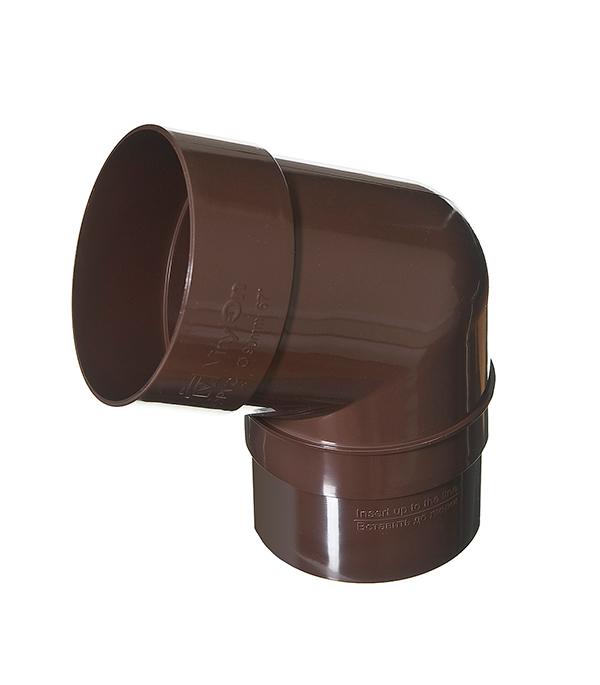 Колено трубы пластиковое d90 мм 67° коричневое (кофе) VINYL-ON