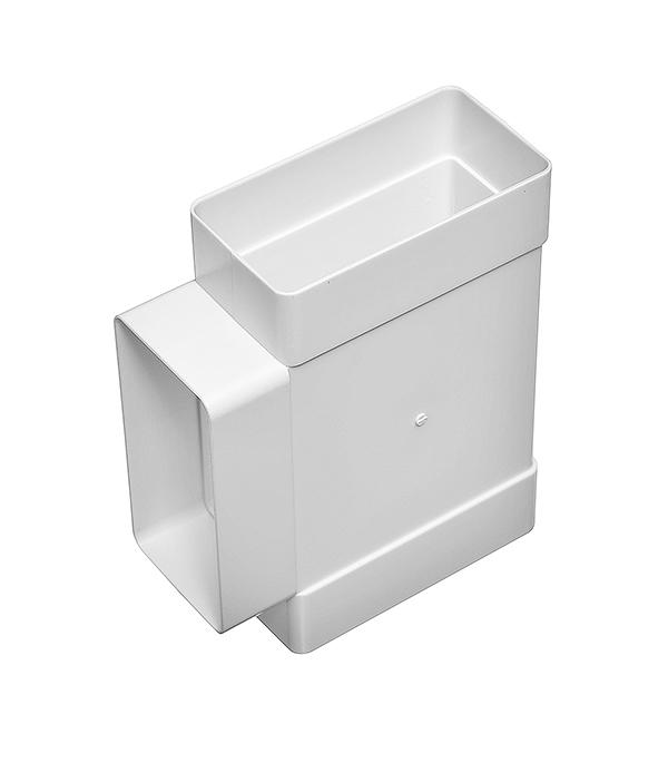 Тройник для плоских воздуховодов пластиковый 60х120 мм, 90°