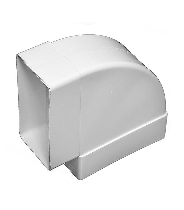 Колено для плоских воздуховодов горизонтальное пластиковое 60х120 мм 90° колено угловое эра 60х120 d100мм 90 гр пласт бел