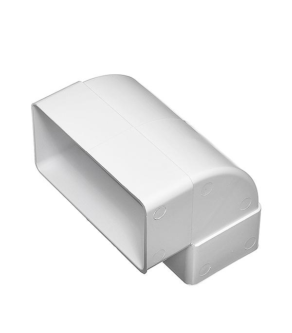 Колено для плоских воздуховодов вертикальное пластиковое 60х120 мм 90° колено угловое эра 60х120 d100мм 90 гр пласт бел