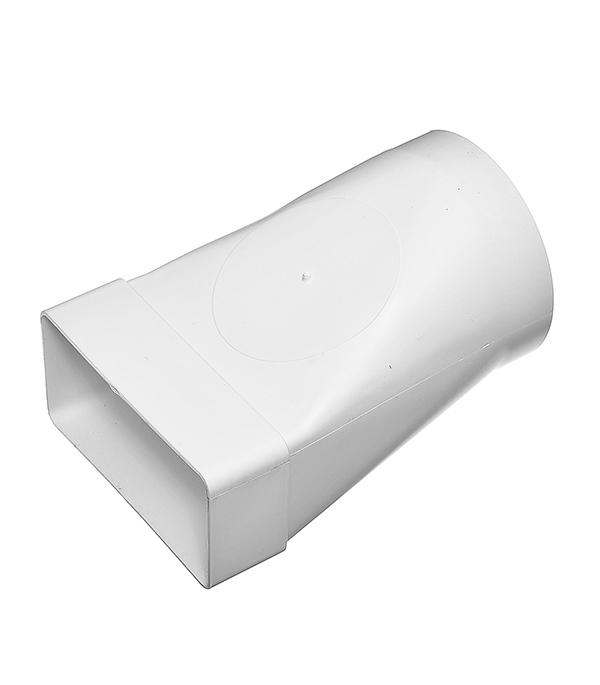 Соединитель эксцентриковый пластиковый для плоских воздуховодов 60х120 мм с круглыми d100 мм