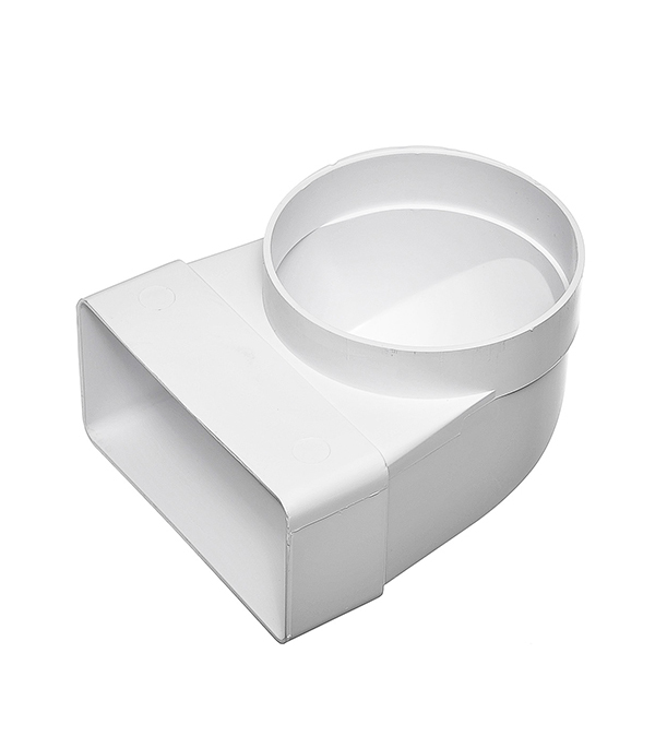 Соединитель угловой 90? пластиковый для плоских воздуховодов 60х120 мм с анемостатами d100 мм
