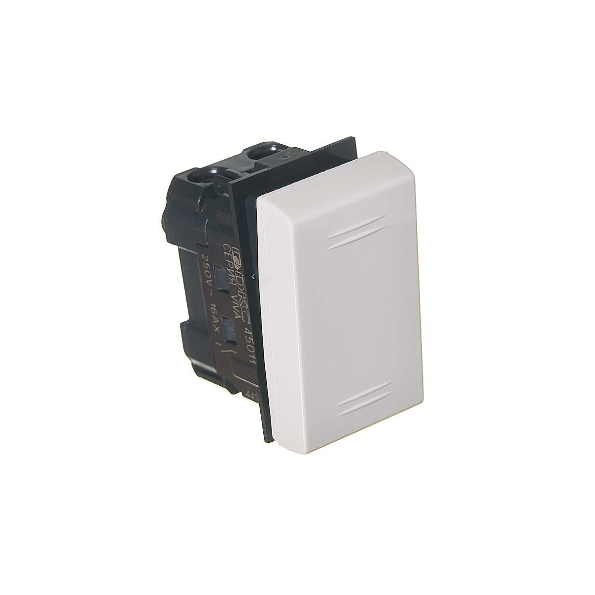 Выключатель для кабель-канала ДКС белый 1 модуль, Viva