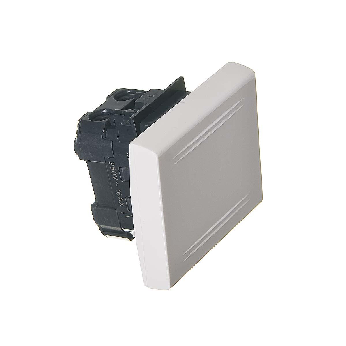 Выключатель для кабель-канала ДКС белый 2 модуля, Viva