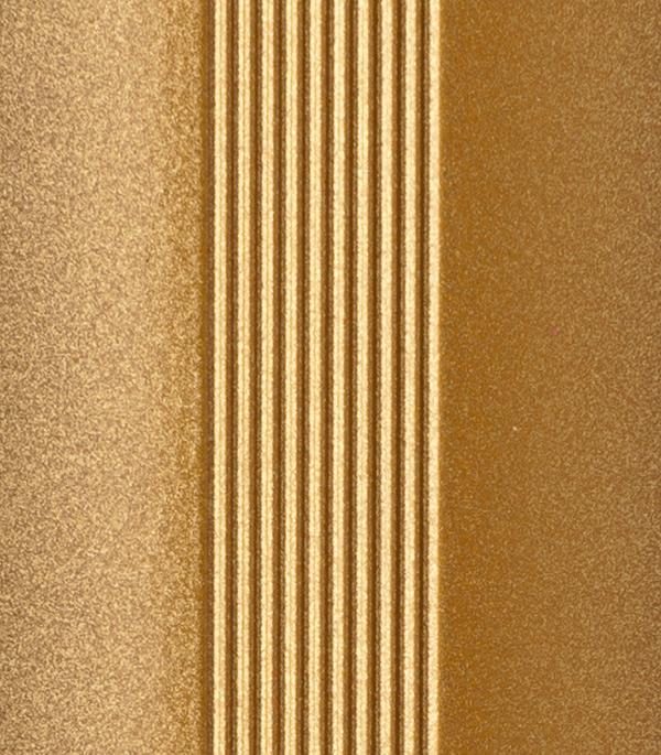 Порог для кромок ступеней 25х25х900 мм золото