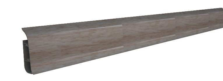 Плинтус с мягким краем клен, 86х24х2500 мм Nexus