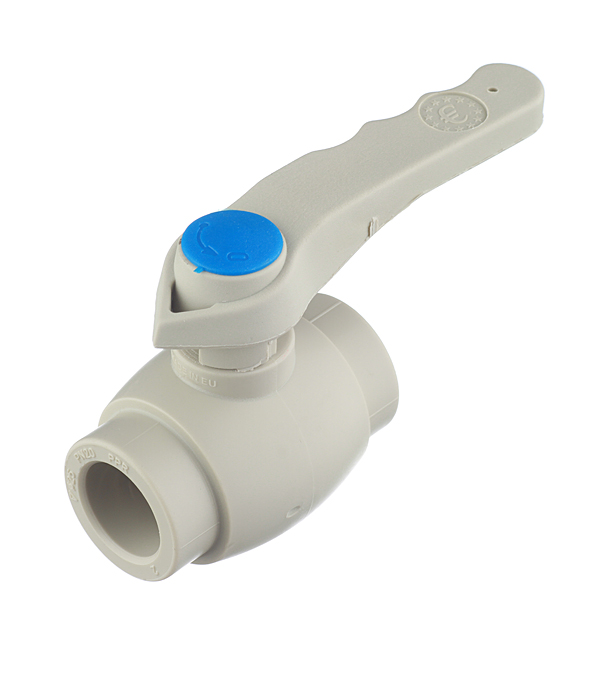Кран полипропиленовый шаровый 25 мм FV-PLAST серый кран полипропиленовый шаровый ртп 25 мм