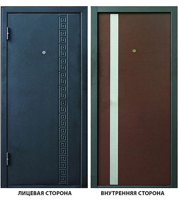 Дверь металлическая ДК Эллада 860x2050 мм левая, без цилиндра и ручки
