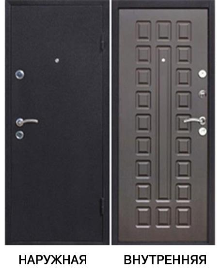Дверь металлическая   Йошкар 860x2050 мм правая