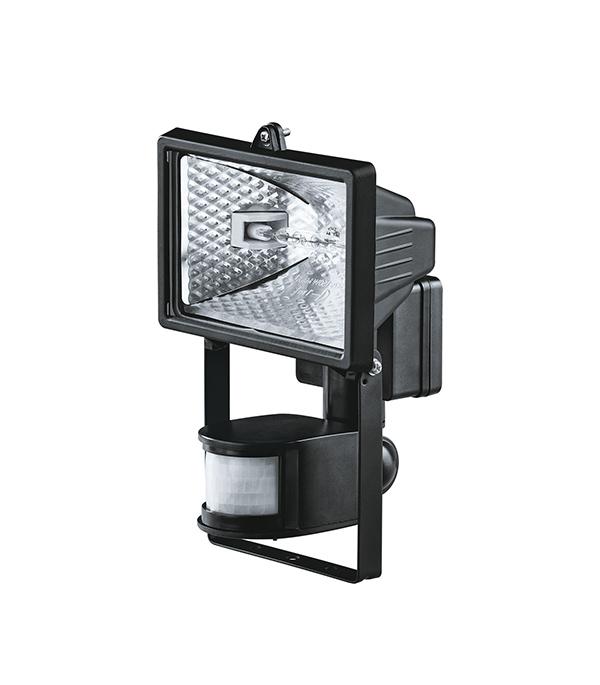 Прожектор галогенный  150 Вт, с датчиком движения, черный