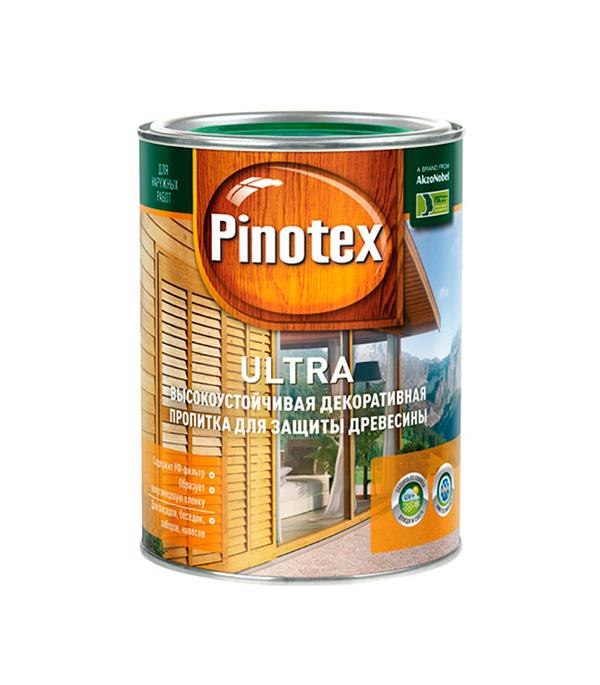 Декоративно-защитная пропитка для древесины Pinotex Ultra белый 1 л пинотекс ultra антисептик орех 1 л