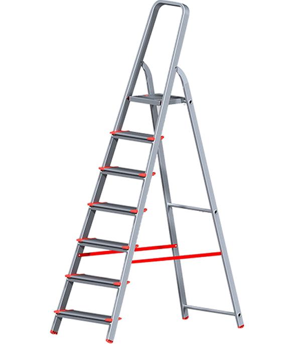Стремянка Новая высота алюминиевая усиленная 7 ступеней стремянка новая высота nv 312 2x3 3120203