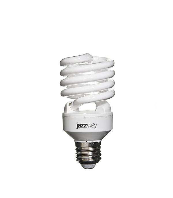 Лампа энергосберегающая E27, 25W, Spiral , 4000K (холодный свет), Jazzway