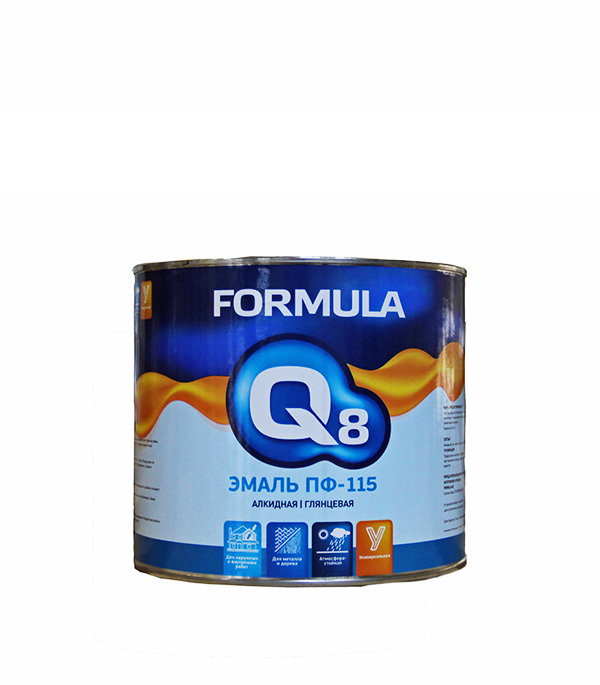 Эмаль ПФ-115 белая Formula Q8 1,9 кг