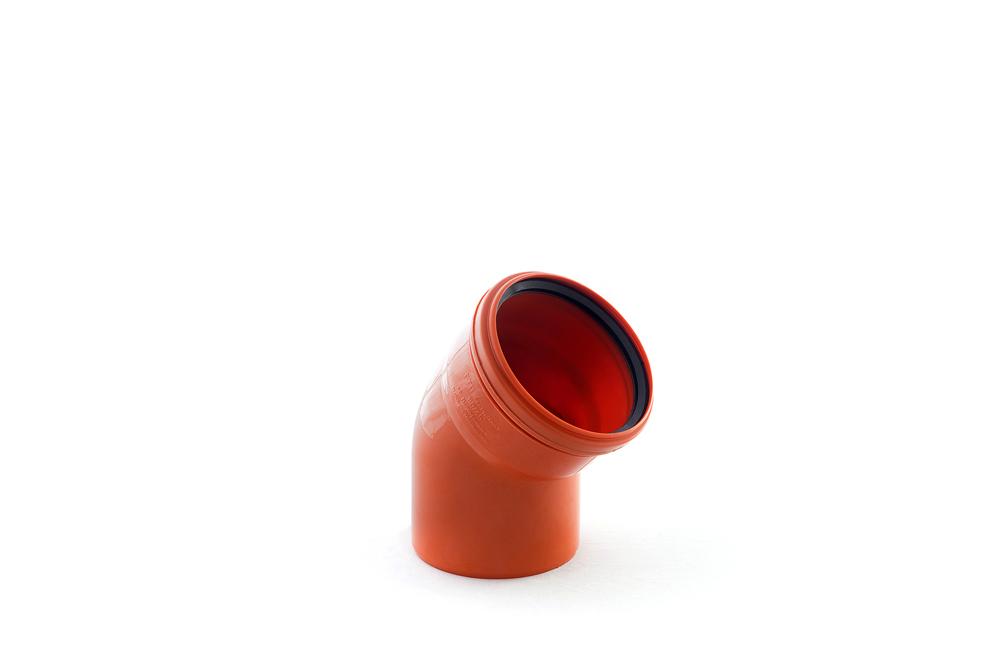 Отвод наружный 110 мм, 45° однораструбный