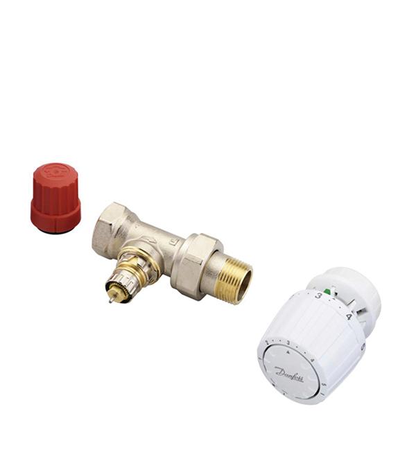 Комплект термостатических элементов 1/2 прямой Danfoss для двухтрубных систем клапан обратный фланцевый ф300 pn16 модель 895 danfoss в оскве