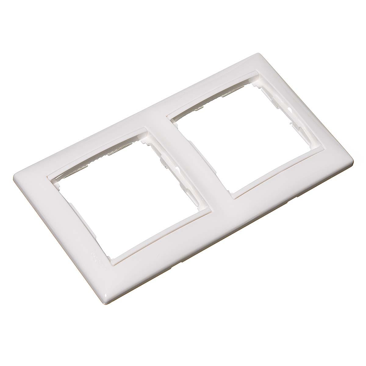 Рамка двухместная Legrand Valena белая