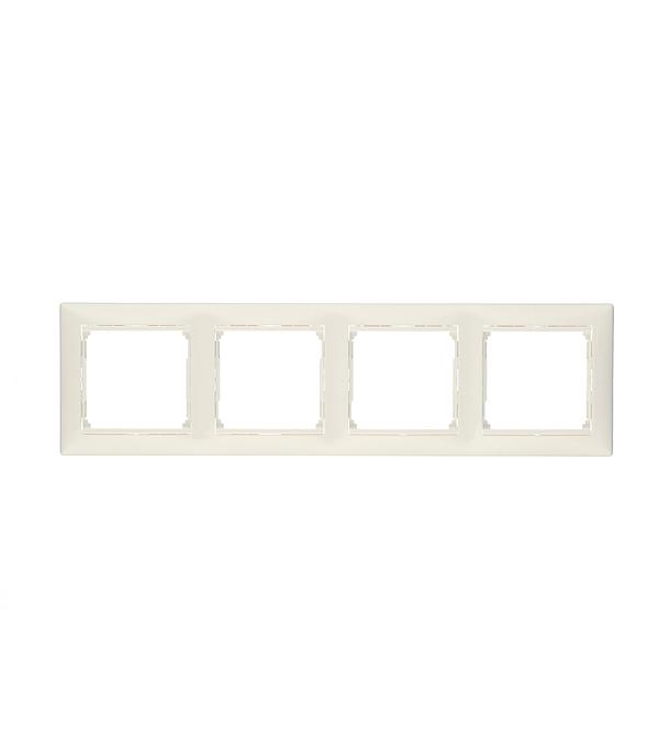 Рамка четырехместная Legrand Valena белая рамка двухместная legrand valena белая