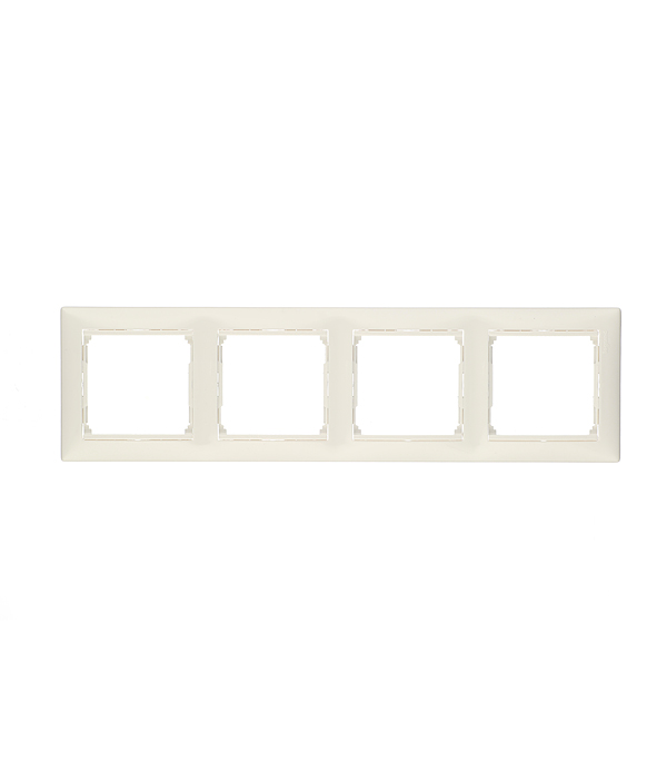 Рамка четырехместная Legrand Valena белая ключ блокировки для розеток legrand 50299